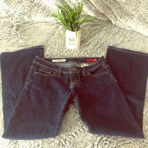 Express X2 Slim W10 Low Rise-Flare Leg Jeans